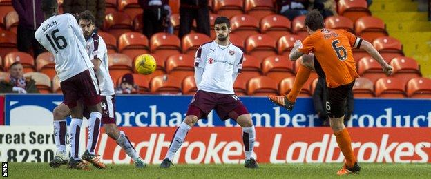 Paul Paton scores for Dundee United
