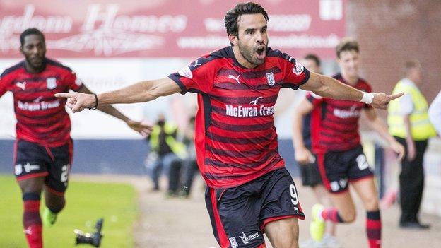 Dundee striker Sofien Moussa