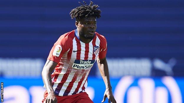 Ghana and Atletico Madrid's Thomas Partey
