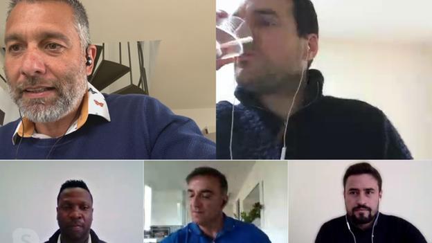 Guillem Balague, Stuart Webber, Lauren, Carlos Carvalhal and Pep Clotet in conversation