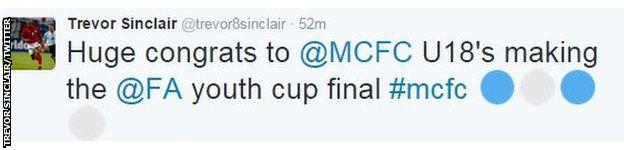 Trevor Sinclair on Twitter