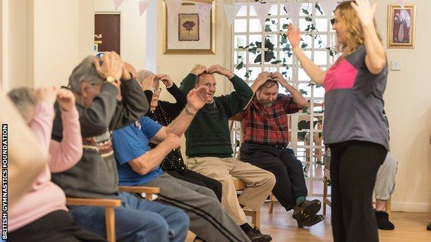 residents taking part in a Love to Move session