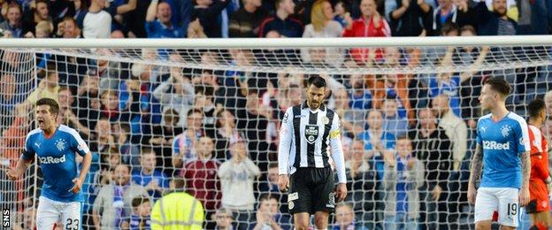 Steven Thompson was dejected when his penalty went over the bar