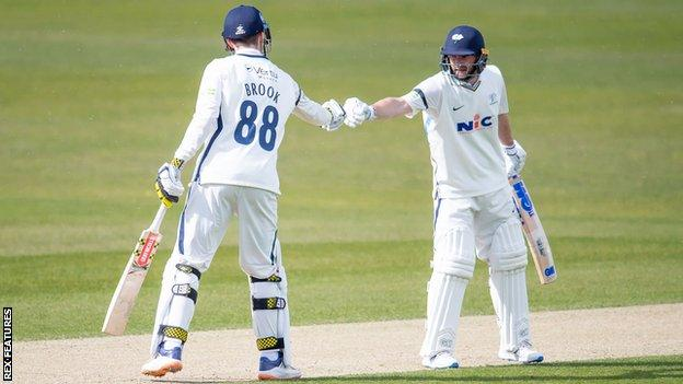 Yorkshire's partnership between Harry Brook and Adam Lyth frustrated Glamorgan