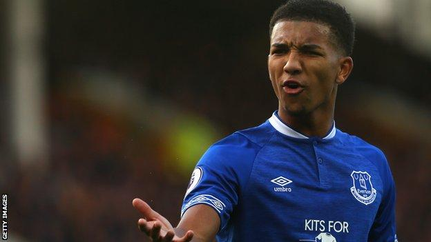 Everton defender Mason Holgate