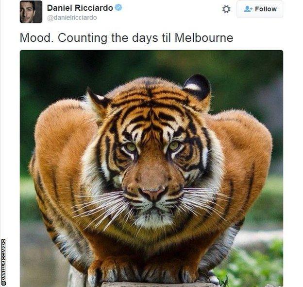 Daniel Ricciardo's emotional equivalent