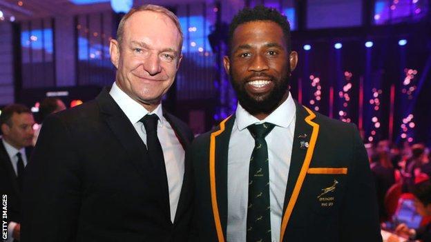 Francois Pienaar and Siya Kolisi