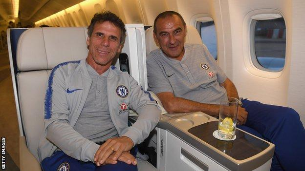 Gianfranco Zola: Former Chelsea striker appointed Maurizio Sarri's assistant