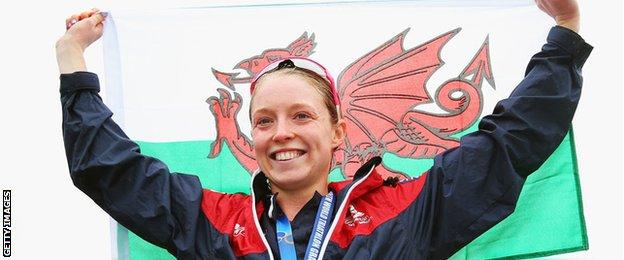 Non Stanford with the Welsh flag