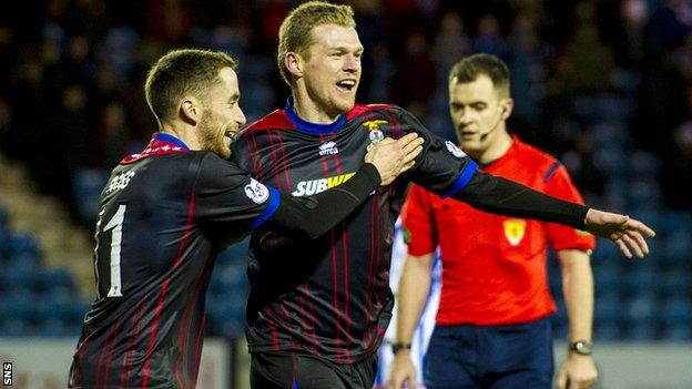 Billy Mckay in action for Inverness Caledonian Thistle