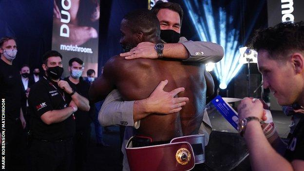 Okolie said promoter Eddie Hearn promised him a gold watch if he became a world champion