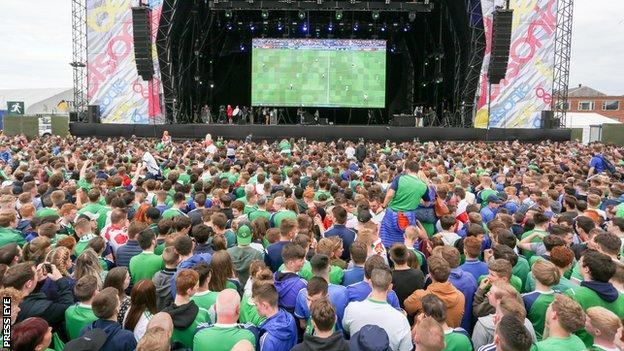 The Northern Ireland squad will be on the Belsonic stage as they are welcomed home on Monday