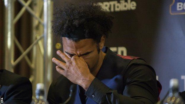 Haye seemed angered during the exchanges and retaliated after being insulted by the crowd