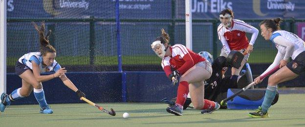 Pegasus clear the danger in their 2-1 victory over Ulster Elks at Jordanstown