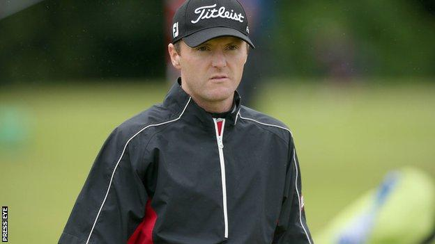 Michael Hoey carded a second round 70 but misses the cut at the Northern Ireland Open
