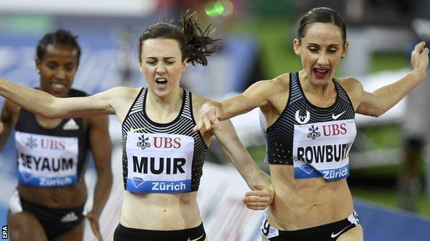 Laura Muir and Shannon Rowbury