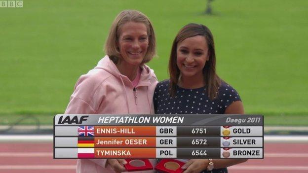 Jessica Ennis-Hill (right)