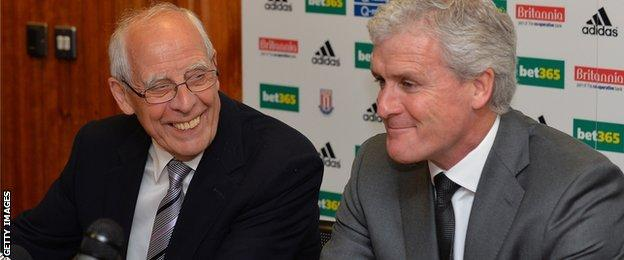 Peter Coates (l) and Mark Hughes