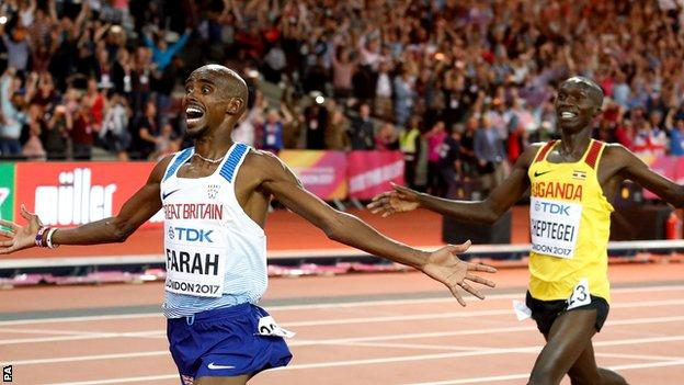 Farah's time was his best since 2011