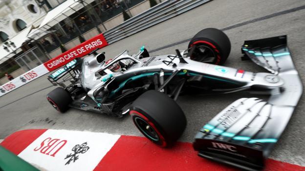 Monaco Grand Prix: Lewis Hamilton edges Max Verstappen in first practice