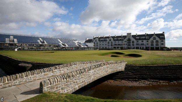 A view of the 18th hole at Carnoustie