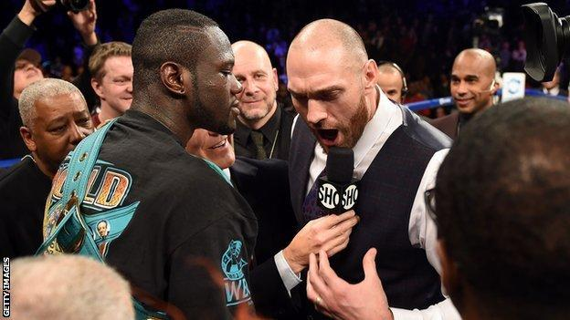 Fury clashed with Wilder in the ring in January of 2016 prior to his break from the sport