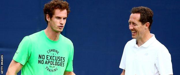 Andy Murray and Jonas Bjorkman