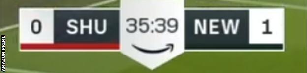 Amazon Prime scoreboard