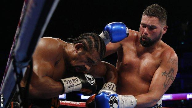 Toney Bellew (right) in action against David Haye