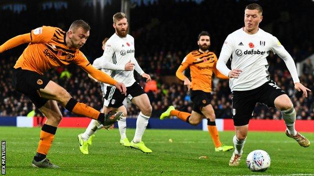 Jarrod Bowen (left) scores for Hull