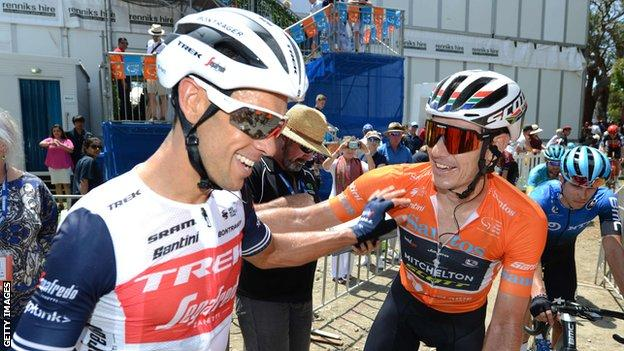 Richie Porte and Daryl Impey