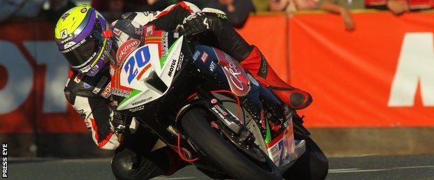 Jamie Hamilton crashed at last month's Senior race at the Isle of Man TT