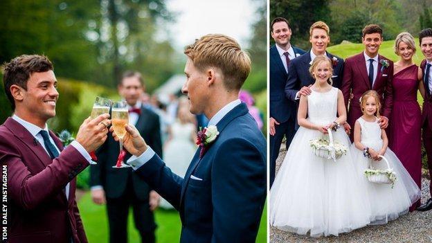 Tom Daley marries Dustin Lance Black