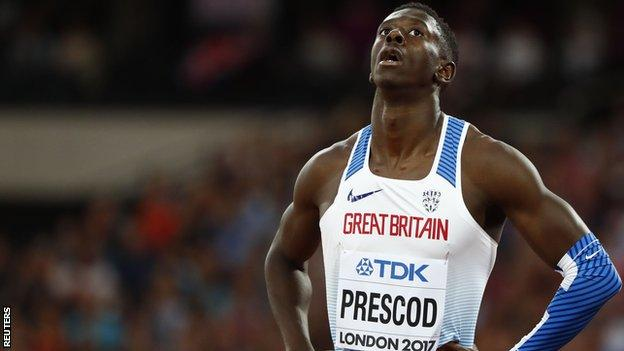 Reece Prescod ran 10.03 seconds - a lifetime best - to qualify for Saturday's semi-final