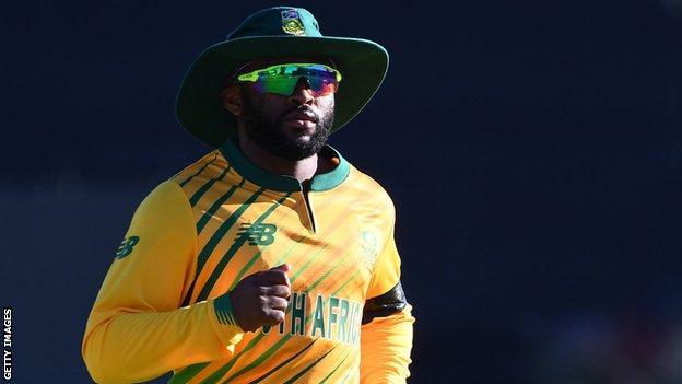 South Africa batsman Temba Bavuma during a T20 international