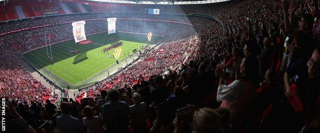 Challenge cup final at Wembley