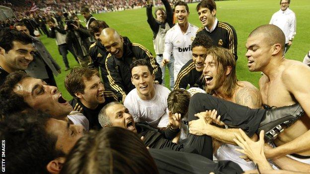Mourinho won La Liga in his time at Real Madrid