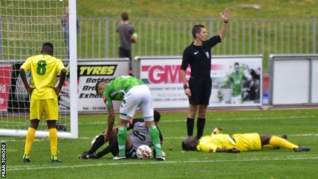 Chris Tardif injured