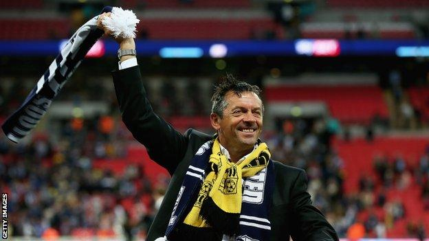 Phil Brown led Southend United to promotion from League Two through the play-offs in 2014-15