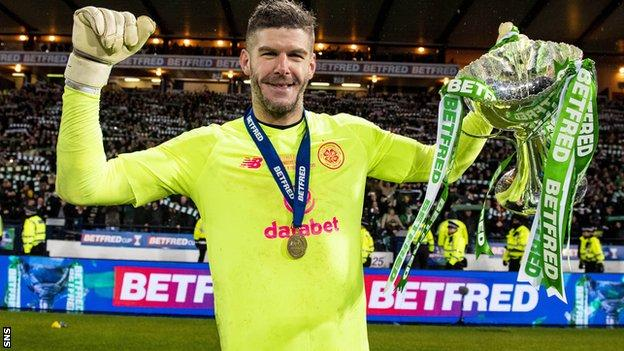 Fraser Forster helped Celtic to League Cup and title success last season