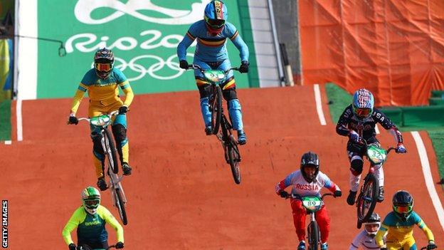 Rio 2016 BMX women's final
