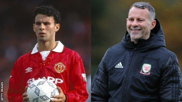 Ryan Giggs in 1992 and 2018
