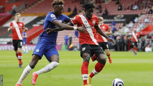 Chelsea striker Tammy Abraham in action against Southampton