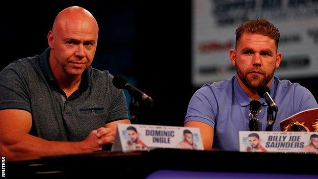 Ingle (left) has been credited with helping Saunders improve his physical condition