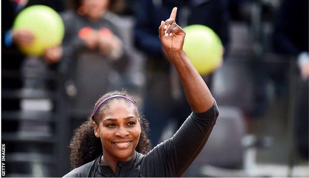 Serena Williams reaches Italian open final