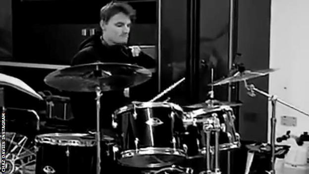 Chaz Davies drumming