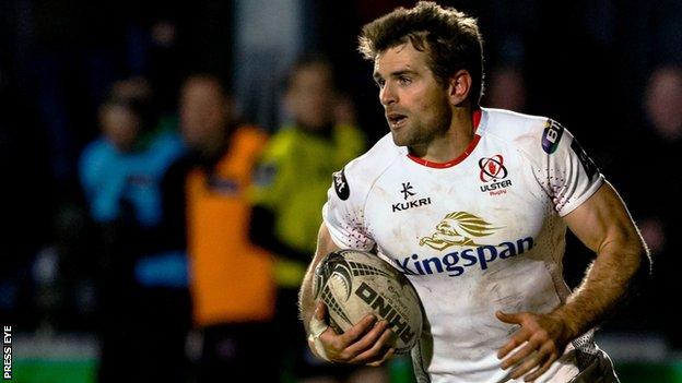 Jared Payne will miss Ulster's match against Munster with an ankle injury