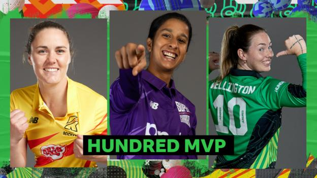 Women's MVP graphics: Nat Sciver (left), Jemimah Rodrigues (middle), AJ Wellington (right)