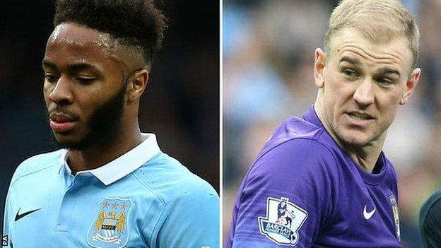 Raheem Sterling and Joe Hart