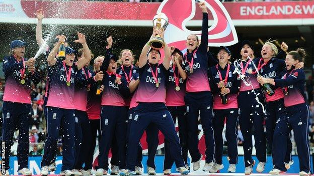 England celebrate winning the 2017 World Cup